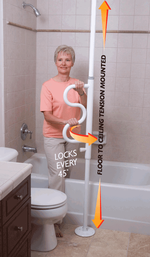 Security Pole With Grab Bar